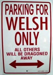 Parking Sign - Parking For Welsh Only