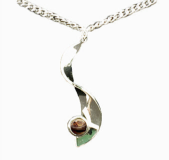 S Twist Plated Pendant with HeatherGem