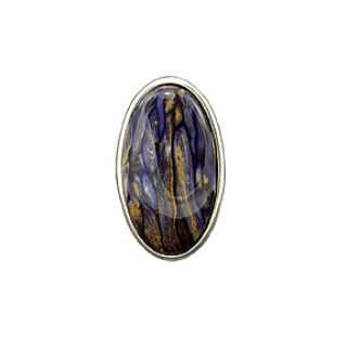Large All Heather Oval Brooch