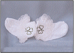 Christening Socks with Shamrocks