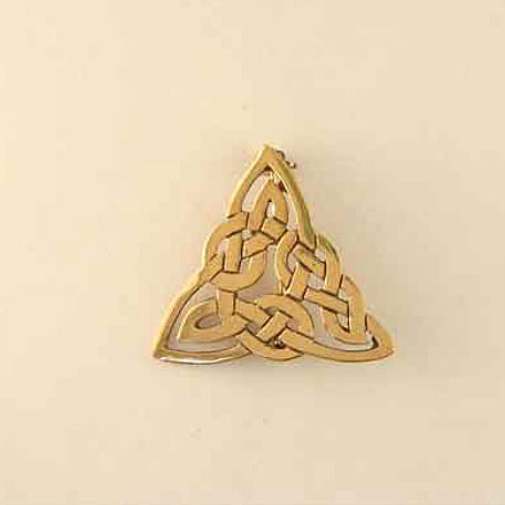 Triangle-Knot Brooch