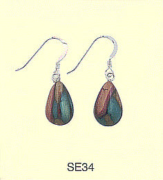 HeatherGems Teardrop Drop Earrings - Sterling Silver