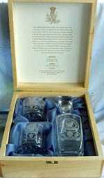 STERLING DECANTER SET - With Clan Crest