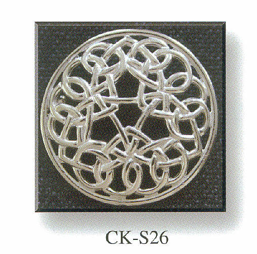 Plaid Brooch with Eternal Celtic Knot