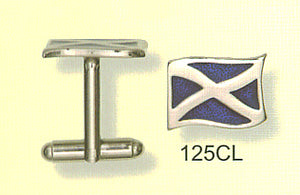 Cufflinks - Saltire - Enameled