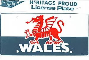 Welsh License Plate