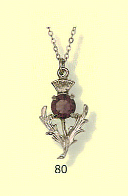 Thistle Pendant with Stone