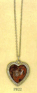 "Scottish Pebble Heart ""Truelove"" Pendant - Limited"