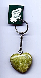 Irish Connemara Marble Heart Shape Key Chain