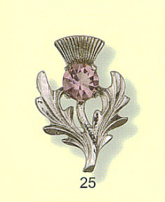 Bold Single Thistle with Gem