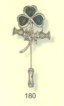Lapel Pin - Shamrock and Thistle