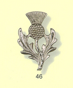 Bold Single Thistle Brooch