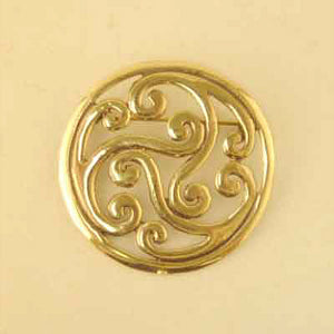 Open Spiral Brooch - Bronze