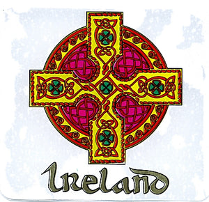 Ireland Classic Celtic Cross Sticker