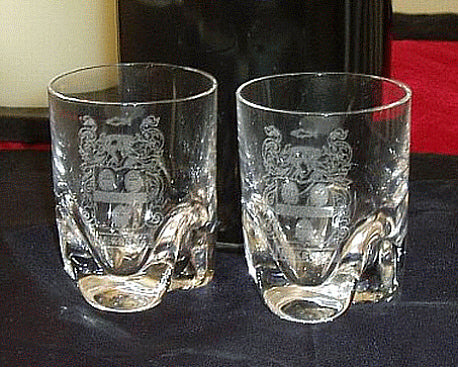 Crystal Shots with Clan Crest - Set of Two