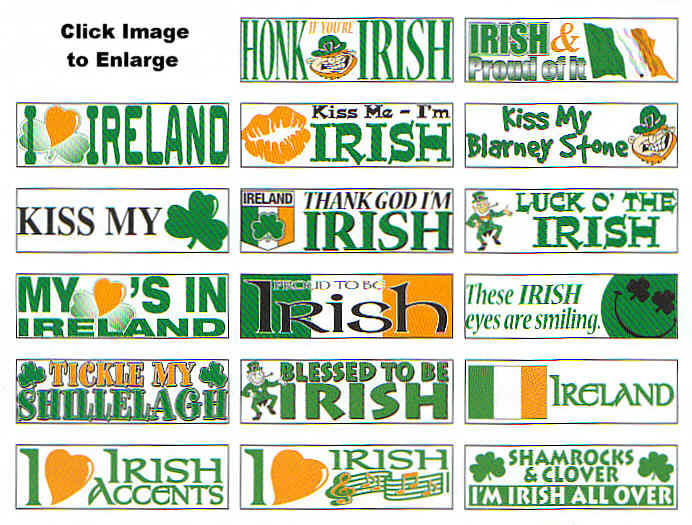 Irish Bumper Stickers