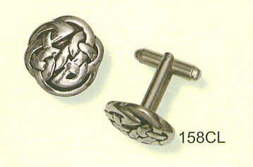 Cufflinks - Celtic Interlace - Solid
