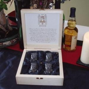 CLAN CRYSTAL SHOTS SET - 4 PC. - With Wood Box