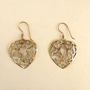 Celtic Heart-Knot Earrings