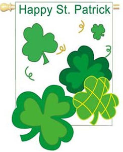 """Happy St Patrick's Day Pennant Flag - 28"" x 40"""
