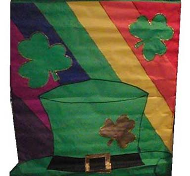 Fun Flag with Hat and Shamrocks - 28