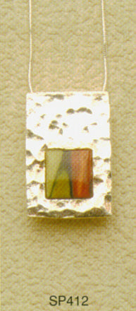 Rectangular Sterling Silver Drop Pendant