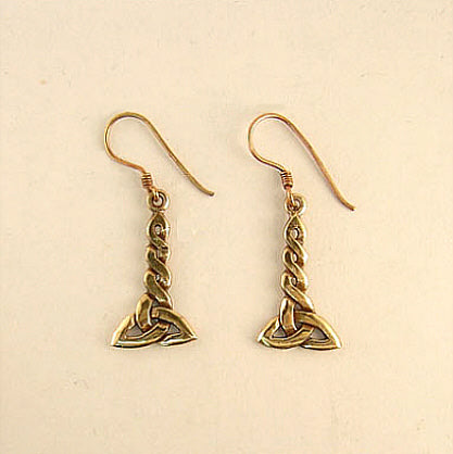 Twisted Trinity Earrings