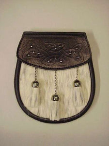 Semi Dress Bovine - Embossed Studded and Bound Lid - with Chain Strap