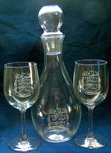 Wine Decanter with 2 Wine Glasses