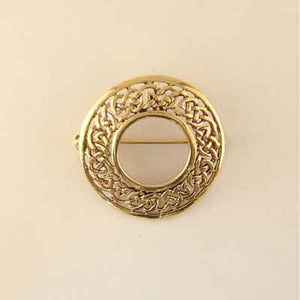 Circle Open-Weave Brooch