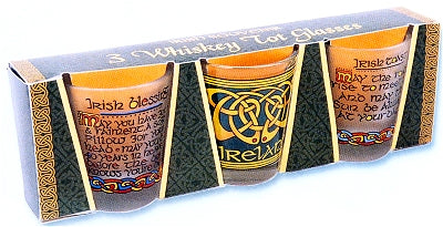 Set of 3 Celtic Shot Glasses