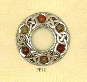 Scottish Pebble Brooch - Eternal Interlace