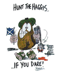 Fun T-Shirt - Hunt The Haggis If You Dare!