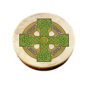 Bodhran 12 inch with Cloghan Cross Design