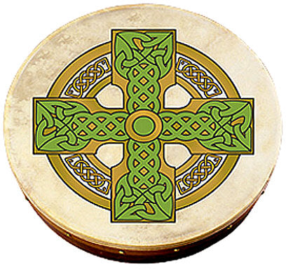 Bodhran 18 inch with Cloghan Cross Design