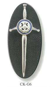 Claidhmhor Kilt Pin with Thistle Theme
