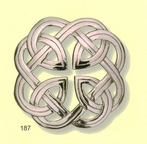 Celtic Interlace Plaid Brooch