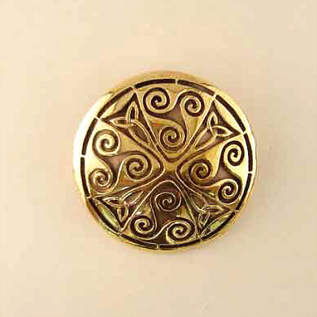 Celtic Targe Brooch - Bronze