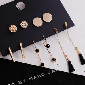 Tassel Stud Earrings Set