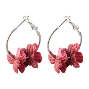 Beautiful  Flower Drop Earrings For Women 2019 Colorful Petal