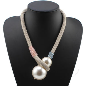 Pendant  Rope Chain Pearl Necklace