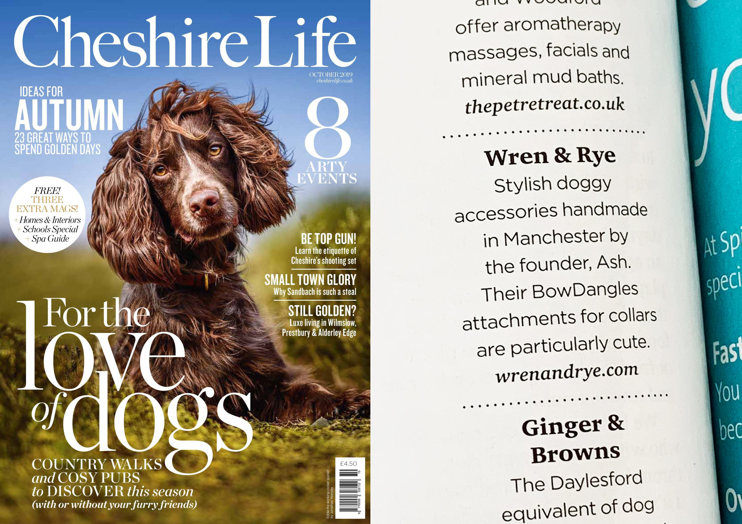 Wren & Rye - Press - Cheshire Life Magazine October Issue