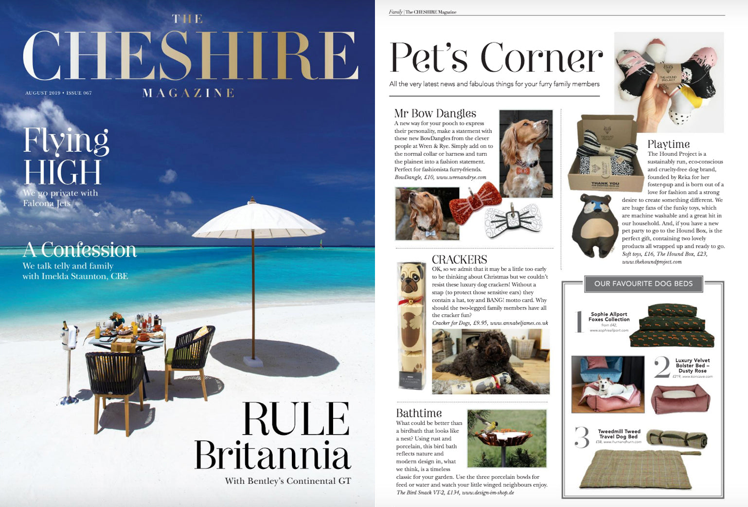 Wren & Rye - Press The Cheshire Magazine August September Issue