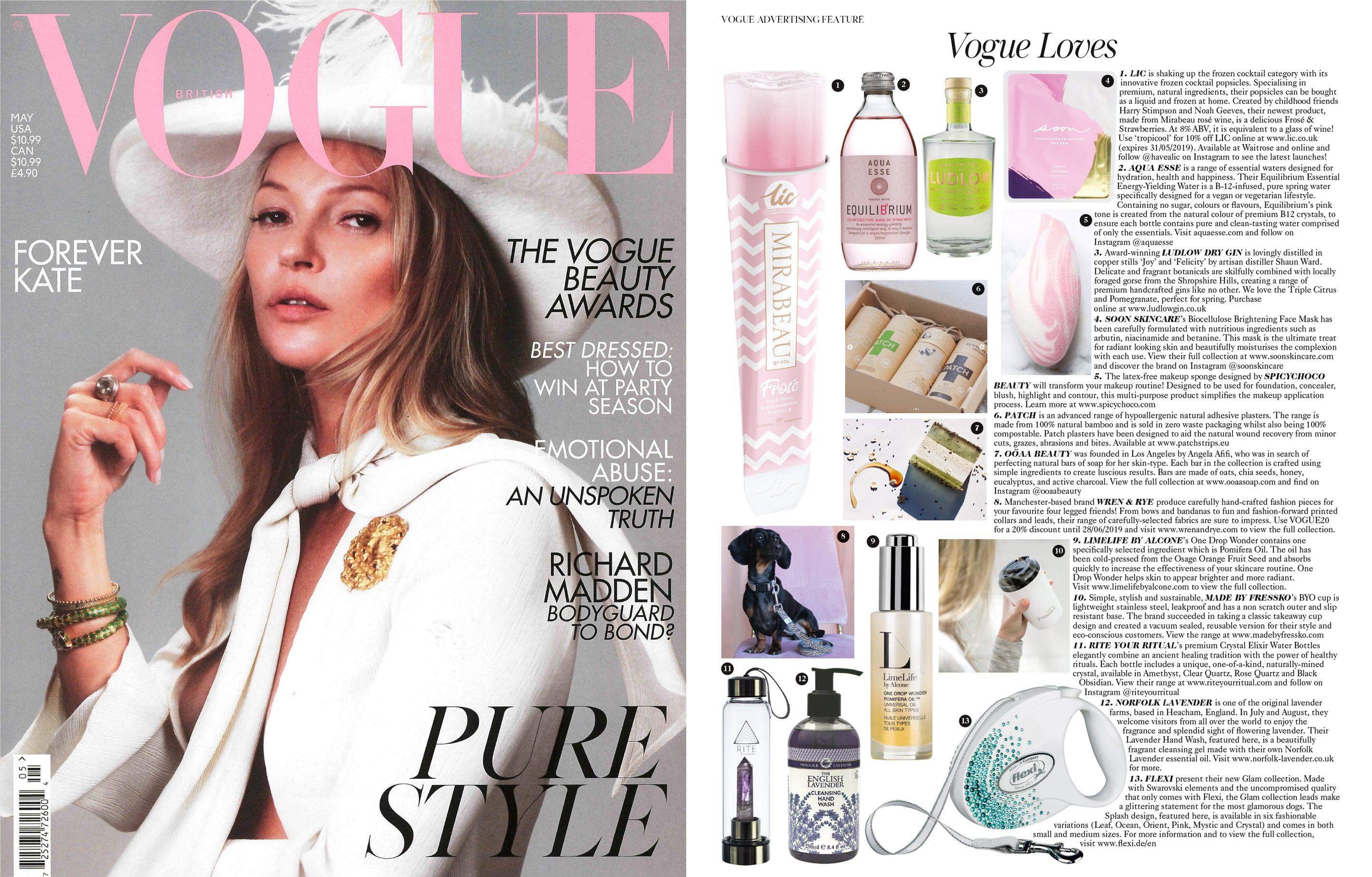Wren & Rye - Press Vogue Magazine May Issue