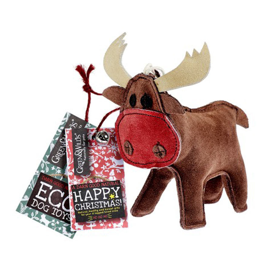 Green & Wilds Rudy the Reindeer Dog Toy