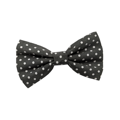 Polka Dot Spot Grey Dog Bow Tie