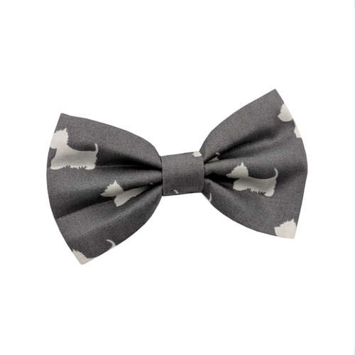 Westie Grey Dog Bow Tie