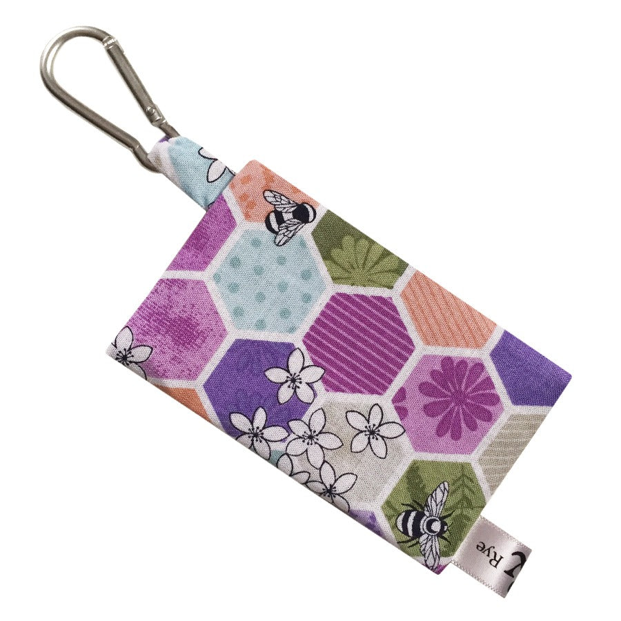 Bee Kind Hex Poop Bag Holder