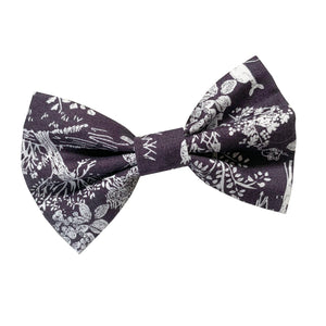 Dark Forest Dog Bow Tie