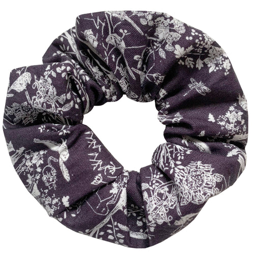 Dark Forest Print Hair Scrunchie